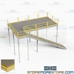 Second Story Mezzanines Storage Platforms Warehouse Floor Space Second Story