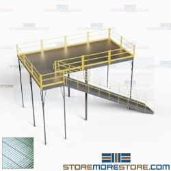Warehouse Platforms Mezzanines Two-Story Storage Levels Industrial Floorspace