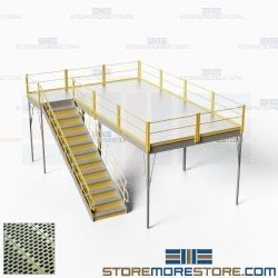 Structural Storage Platforms Mezzanines Second Story Floorspace Level Warehouse