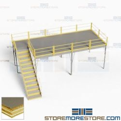 Pre-Engineered Platform Mezzanines Prefab Storage Structure Industrial Warehouse