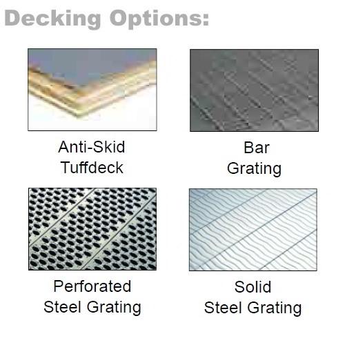 Steel Mezzanine Kits with Solid Steel Grating Deck (10'W x 20'D x 8'H),  #SMS-62-1020-8GMEZ-SG-17