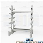 Racks Storing Pipe & Bar Stock | Industrial Horizontal Steel Storage Racks