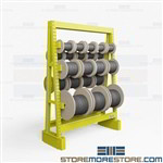 Bulk Cable Storage Rack | Large Spool Drum Rack