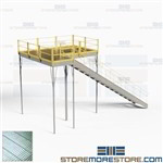 Storage Mezzanine Industrial Steel Deck Platforms 12'x8' Prefab Freestanding
