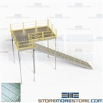 Pre-Engineered Storage Platform Mezzanine Freestanding Two-Story Floorspace
