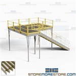 Prefabricated Platform Mezzanines Storage Space Second Level Deck Warehouse IBC