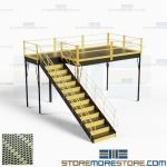 Industrial Mezzanine Platforms Storage Warehouse Industrial Floorspace Stairs