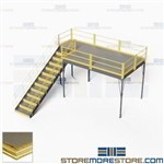 Second Story Industrial Platforms Mezzanine Floor Space Storage Level Warehouse