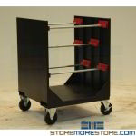 Wire Spool Cart Rolling Reel Storage Trolly Truck Cable Transport Organizer Bins