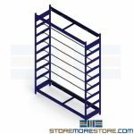 "Wire Spool Storage Rack Shelving Cable Reel Rods Adjustable 60"" Wide 7 Levels"