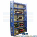 Wire Reel Storage Rack Cable Spool Organizer Shelves Adjustable Rod Levels