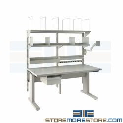 Adjustable Height Workbench Electric Workstation Technician Bench Ergonomic