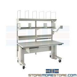 Shipping Workstation Adjustable Height Bench Sit Stand Packing Workbench