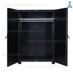 Museum Cabinet for Hanging Garments Costumes Historic Uniforms Clothes