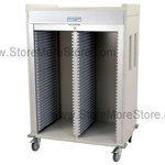 Double Column 3/4 Height Medical Storage Cart with Roll-up Door. Standard sand color with 15 other available colors.