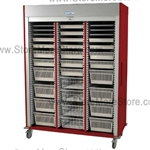 Preconfigured Triple Column Locking Roll-Up Door with 17 colors options to choose from and a gray roll-up door.