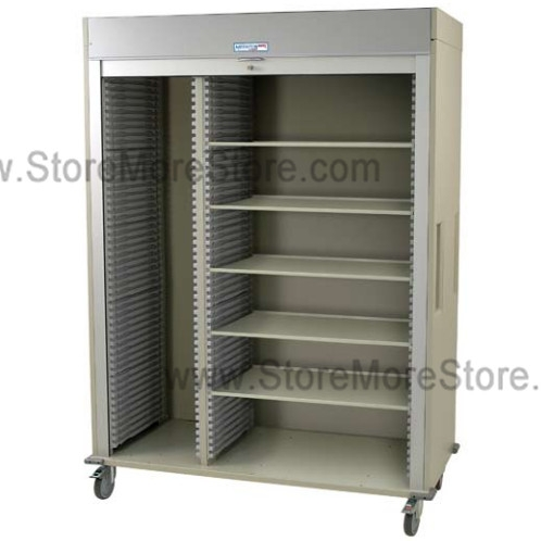 Ms8160sh L Medical Cart With Locking Roll Down Door
