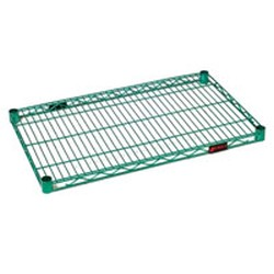 "14"" x 72"" Proform® Green Epoxy, Wire Shelf, #SMS-69-1472E"