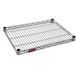 "18"" x 42"" Valu-Master Gray Epoxy Wire Shelf, #SMS-69-1842V"