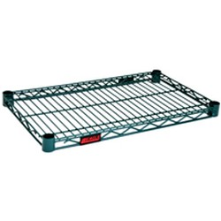 "21"" x 42"" Valu-Gard Green Epoxy Wire Shelf, #SMS-69-2142VG"