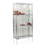 "14"" x 36"" Chrome, Bulk Wine Storage Unit with No Doors. 180 (750Ml Bottles) Capacity, #SMS-69-BW1436C"