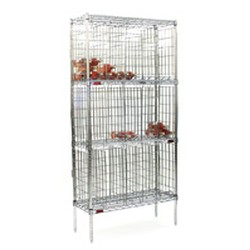"14"" x 48"" Chrome, Bulk Wine Storage Unit with No Doors. 240 (750Ml Bottles) Capacity, #SMS-69-BW1448C"