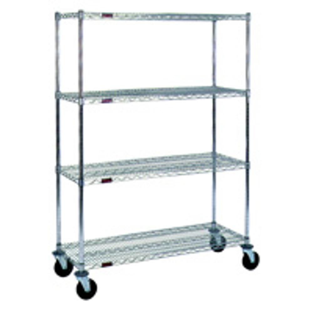 24 inch deep shelves - Metal Wire Shelving Cart