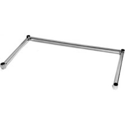 "18"" x 24"" Stainless Steel 3-Sided Channel Frame, #SMS-69-CF1824-S"