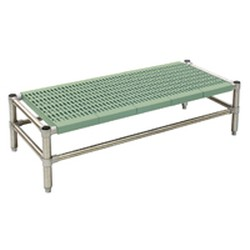 "23"" x 50"" Stationary, Lifestor® Dunnage Rack with Louvered Shelves, #SMS-69-DR-L2350PSM"