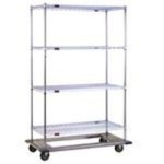 durable zinc wire shelving carts resilient swivel casters DT2436-ZS
