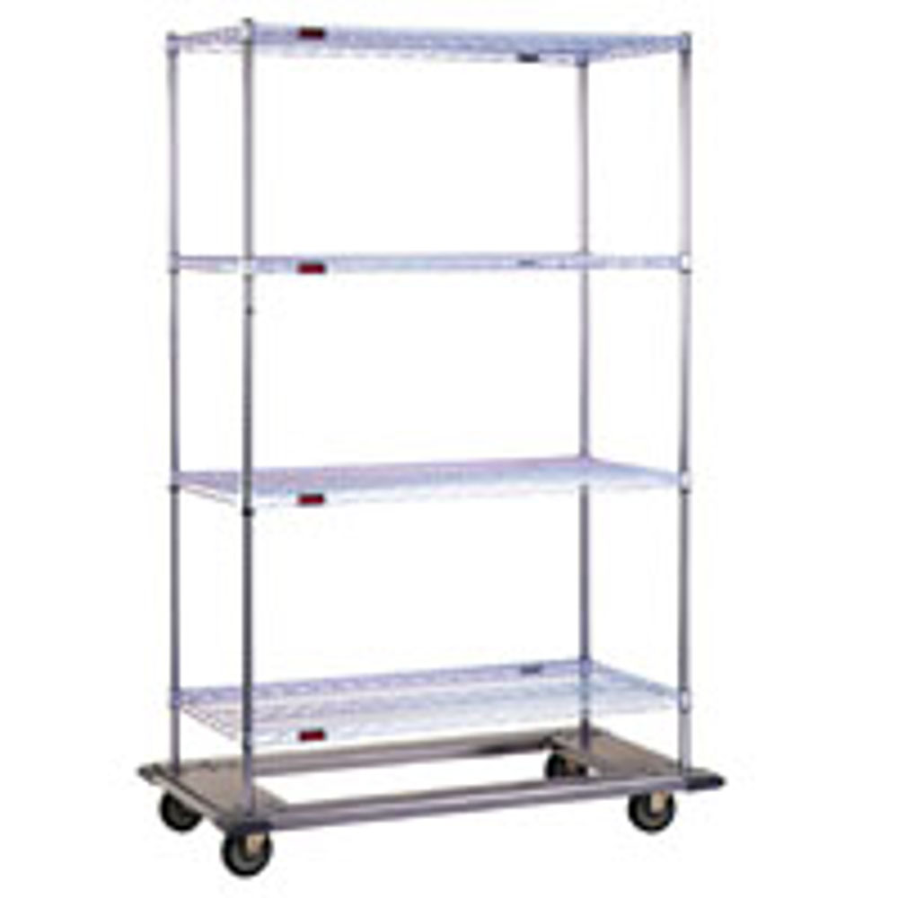 Heavy Duty Chrome Wire Racks with Rolling Dolly Bases 60\