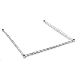 "18"" x 36"" Stainless Steel 3-Sided Double Truss Frame, #SMS-69-DTF1836-S"