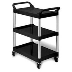 "18-5/8"" x 33-5/8"" Black Polymer Utility Cart, 200 Weight Capacity, #SMS-69-EU3-2030-P"