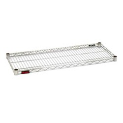 "18"" x 48"" White Epoxy, Gondola Inset Wire Shelf, #SMS-69-G1848W"