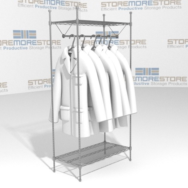 Wire Garment Uniform Storage Racks Uniform Hanger Shelves SMS-69 ...