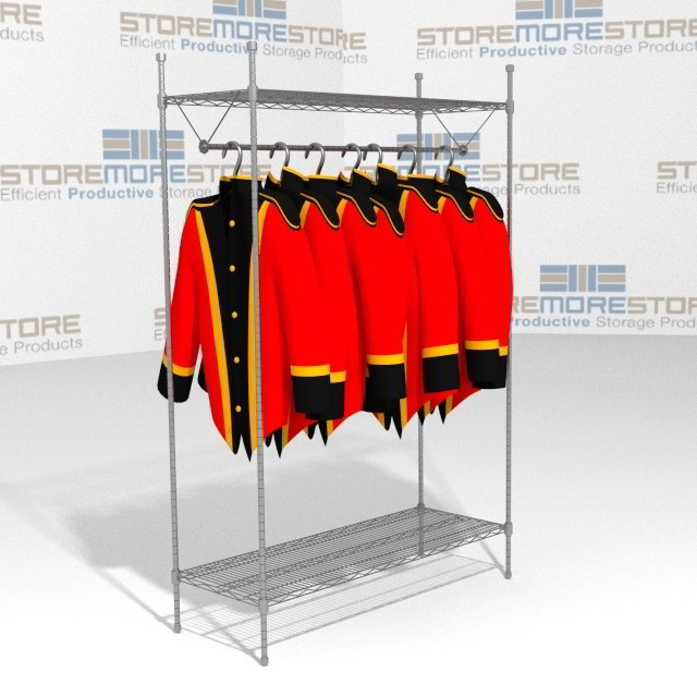 Storing Hanging Garments Lab Coats SMS-69-GR1848C Wire Shelving 48 ...