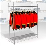 "60"" Wide Wire Garment Rack Eagle GR1860C for Storing Hanging Uniforms"
