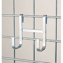 "2-1/4"" x 4-1/4"" x 3/8"" Chrome Large Double Hook, #SMS-69-LDH-C"