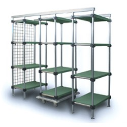 "18"" x 54"" Mobile Unit Kit for Master Trak® Overhead Track Lifestor® Polymer Storage System, #SMS-69-LMUK1854-S"