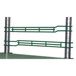 "1"" Valu-Gard® Green Epoxy Front-To-Back Ledge, 18"" Wide, #SMS-69-LSL18-1VG"