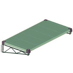 "23"" Valu-Gard® Green Epoxy Wall Bracket, #SMS-69-LWB23-VG"