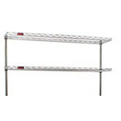 "18"" x 60"" Chrome, Stand-Outs, Decorative Angled Shelf, #SMS-69-M1860C"