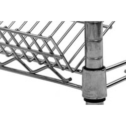 "18"" x 60"" Eaglebrite® Zinc Angled Shelf, Hanger Rails Included, #SMS-69-M1860Z"