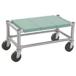 "23"" x 41"" Mobile, Lifestor® Dunnage Rack with Solid Shelves, #SMS-69-MDR-S2341PSM"