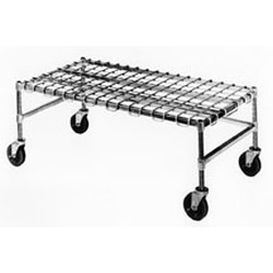 "18"" x 48"" Chrome, Mobile Dunnage Rack, #SMS-69-MDR1848-C"