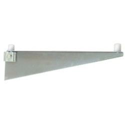 "24"" Regular Grey Epoxy Single Knob Bracket, Left - for Cantilevered Shelving System, #SMS-69-MMB-K-24-L"