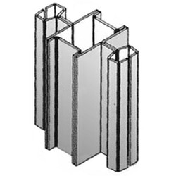 "144"" Regular Aluminum Heavy Duty Uprights - for Cantilevered Shelving System, #SMS-69-MMBB/A-12"