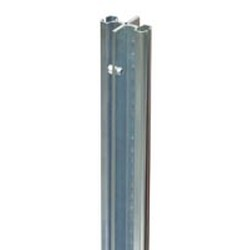 "108"" Regular Grey Epoxy Back-To-Back Upright - Floor-To-Ceiling for Cantilevered Shelving System, #SMS-69-MMBB/FC-9"