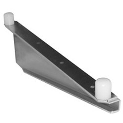 "24"" Regular Stainless Steel Heavy Duty Single Knob ""C"" Brackets, Right - for Cantilevered Shelving System, #SMS-69-MMBCSS-K-24-R"