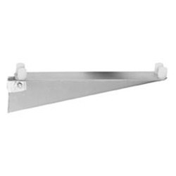 "24"" Regular Grey Epoxy Double Knob Bracket - for Cantilevered Shelving System, #SMS-69-MMDB-K-24"